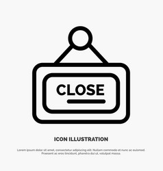 Marketing board sign close line icon vector
