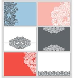 Modern ornamental business card template vector