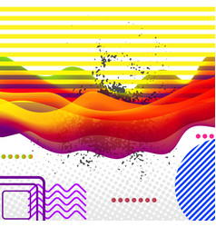 modern pop art style abstract art collage vector image