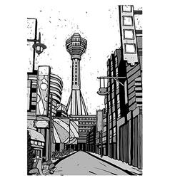 Monochromatic Cityscape vector