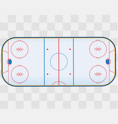 north american ice hockey rink isolated on vector image