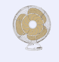 old vintage fan sketch vector image