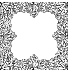 Ornamental floral frame with space for text vector