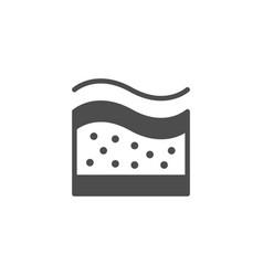 Orthopedic mattress memory glyph icon vector