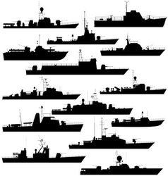 Patrol boat vector