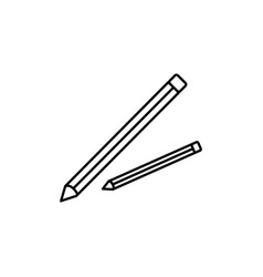 pencils icon vector image