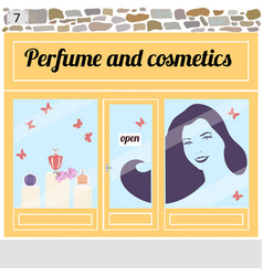 perfume and cosmetics shop vector image