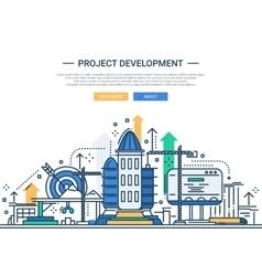 Project Development - line design website banner vector
