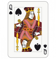 queen of spades vector image