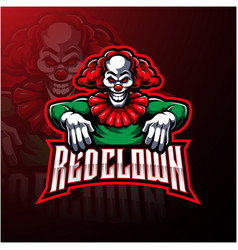 Red clown sport mascot logo design vector