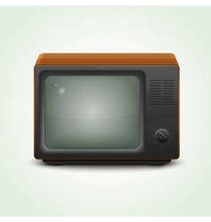 Retro realistic tv set vector