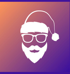 santa claus with mustache and beard vector image