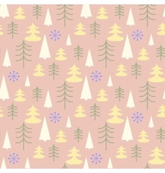 Seamless Christmas pattern with trees vector image
