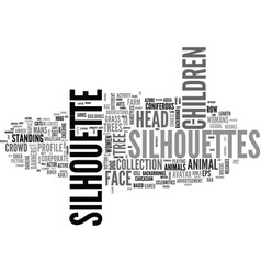 silhouette word cloud concept vector image