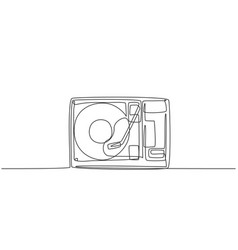 single continuous line drawing retro old vector image