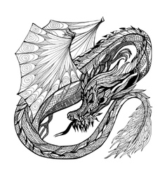 Sketch Dragon vector image