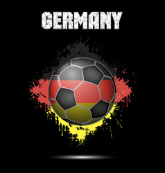 soccer ball in the color of germany vector image