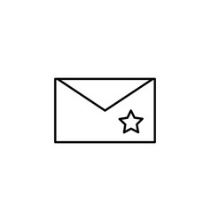 starred email icon vector image