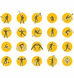 Summer sports icon set vector