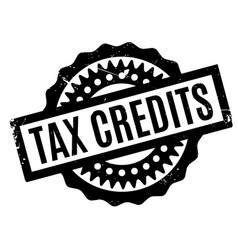 Tax credits rubber stamp vector