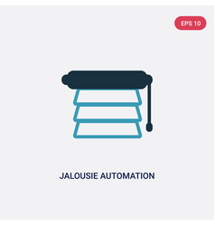 Two color jalousie automation icon from smart vector