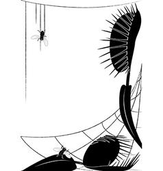 Venus flytrap and fly vector image