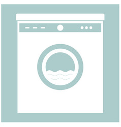 washing machine the white color icon vector image