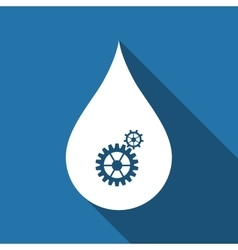Water drop with gears abstract concept for vector
