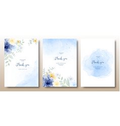 watercolor hand painted beautiful invitation vector image