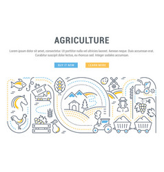 Website banner and landing page agriculture vector