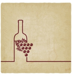 Wine menu old background vector