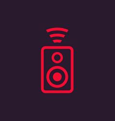 wireless audio speaker icon vector image