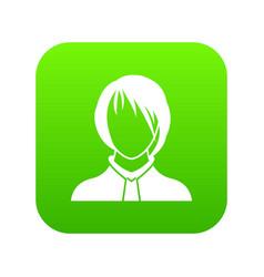 Woman icon digital green vector