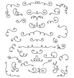 Decorative swirls vector image
