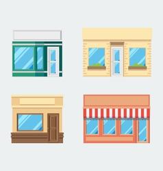 Flat design of front shop set vector image vector image