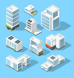 isometric industrial buildings offices and vector image vector image