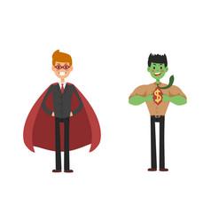 superhero business man set vector image