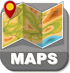 Basic generic map with red marker vector