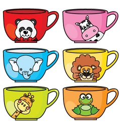 cup animals vector image vector image