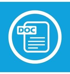 DOC file sign icon vector image