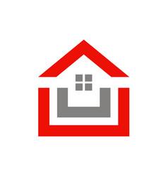 House shape realty logo vector