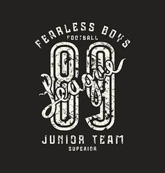 Junior football team emblem in retro style vector image