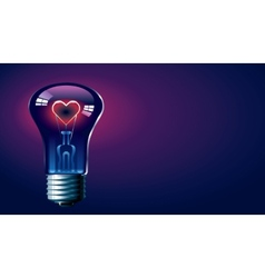 Love glow vector image