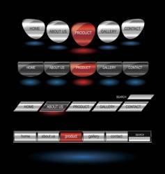 metallic editable website buttons vector image