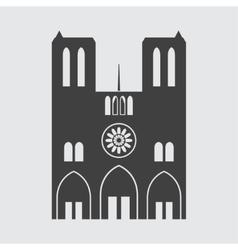 Notre Dame de Paris icon vector image