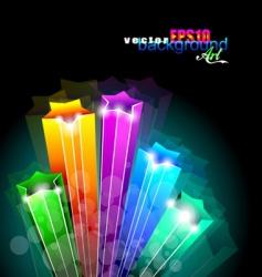 rainbow stars background vector image