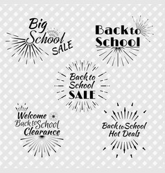 Set of back to school typographic logo vector