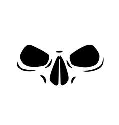 Skull eyes vector image
