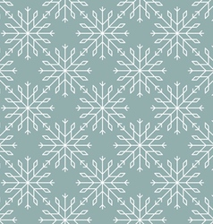 Snowflakes pattern seamless line art vector image vector image