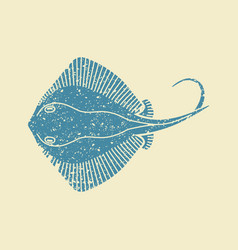 stingray fish icon vector image vector image